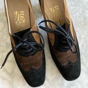 Ferragamo tan suede shoes